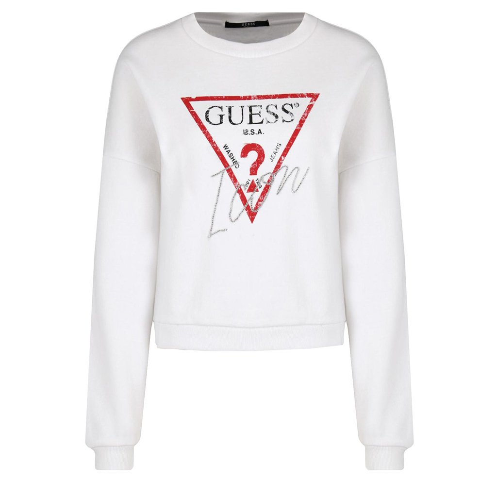 GUESS JEANS BLUZA ICON LOOSE FIT W91Q03 K68I0 TWHT