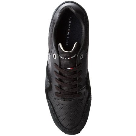 Sneakersy TOMMY HILFIGER Iconic Leather Texti FM0FM01732 Black 990